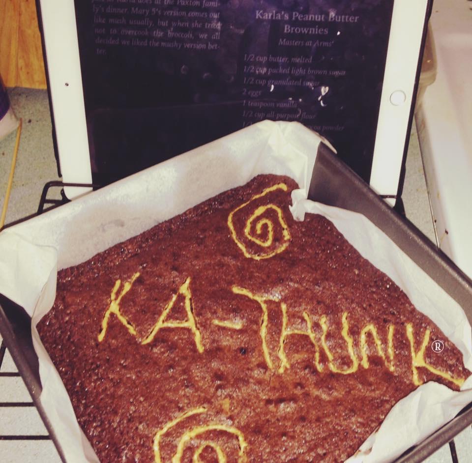 Bridget Thronton Karla's PB brownies