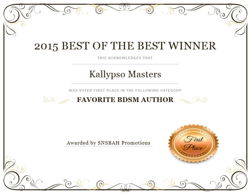 Favorite BDSM Author 2015 SNSBAH Promotions