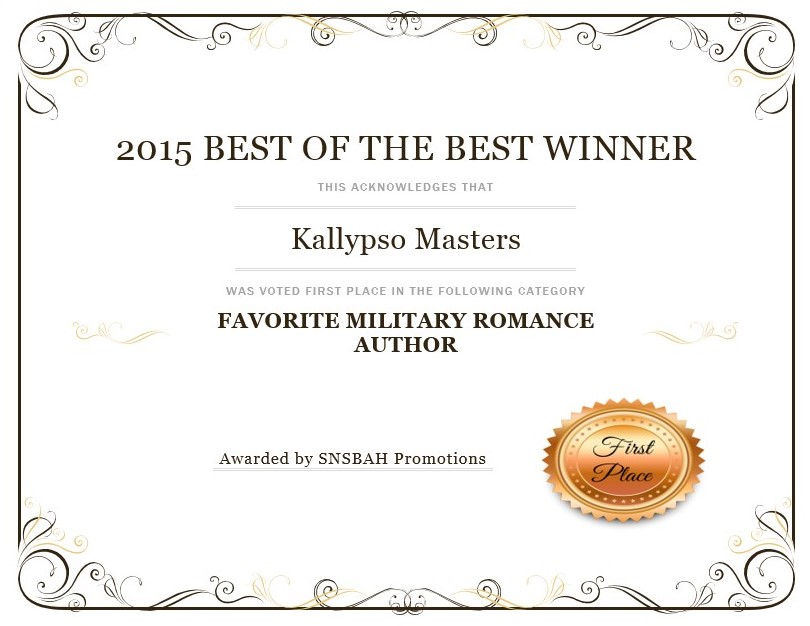 Favorite Military Romance Author 2015 SNSBAH Promotions